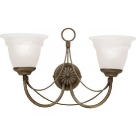 CARISBROOKE black gold Gothic style double wall light