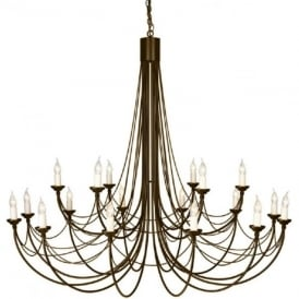 CARISBROOKE large 18 light Gothic style chandelier - black/gold