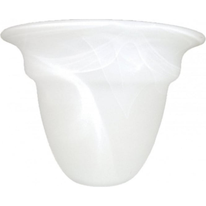 Hotel Collection Alabaster: Upward Facing Small Alabaster Glass Shade For Use On Light