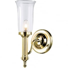 CARROLL traditional gold bathroom wall light