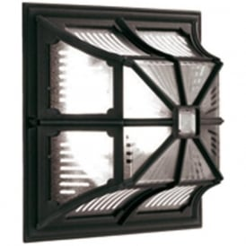 CHAPEL black square garden wall or porch ceiling light