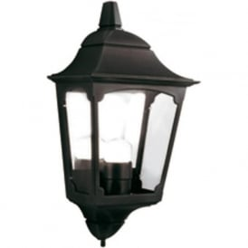 CHAPEL flush fitting traditional black exterior wall light