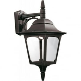 CHAPEL outdoor wall light, black aluminium finish