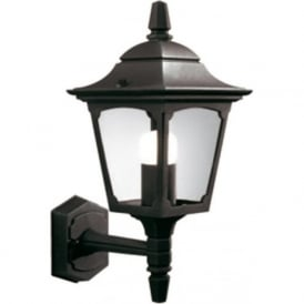 CHAPEL small garden wall light in black aluminium