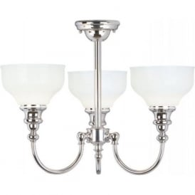 CHEADLE semi flush 3 light bathroom ceiling fitting