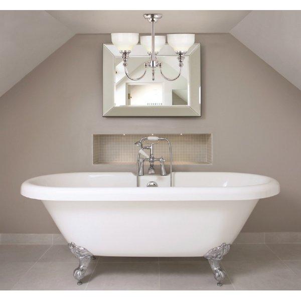 Halogen Ceiling Lights For Bathrooms: Elegant Bathroom Ceiling Light, Semi Flush, 3 Halogen