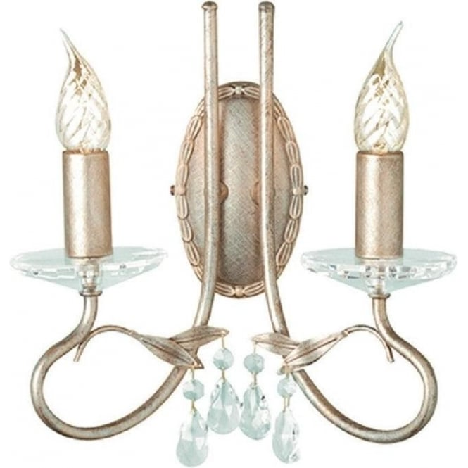 Chester Collection CHRISTINA traditional Edwardian wall light in silver/gold patina