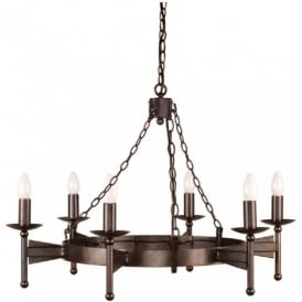 CROMWELL Medieval wrought iron chandelier
