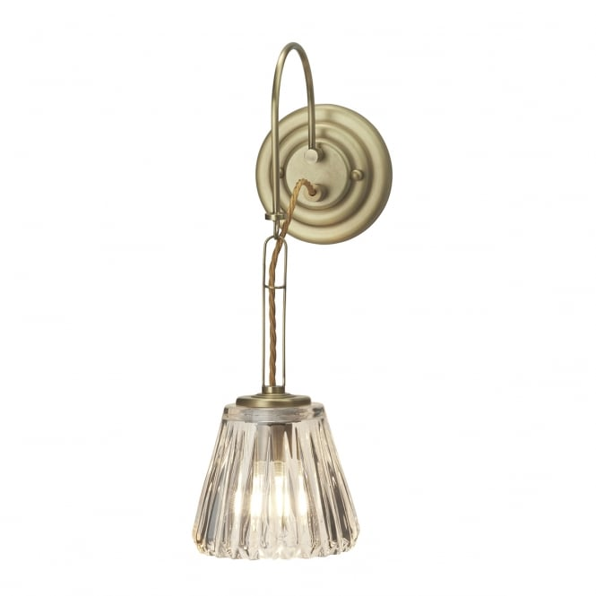 Chester Collection DEMELZA traditional Art Nouveau style LED bathroom wall light - brushed brass