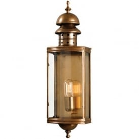 DOWNING STREET traditional antique brass exterior wall lantern