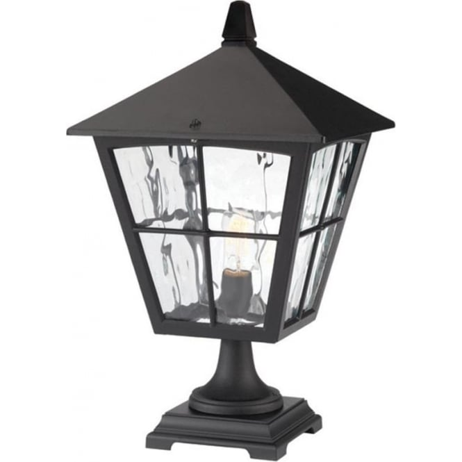 Larger Size Pedestal Post Light With Traditional Leaded