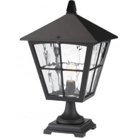 EDINBURGH large black gatepost light or pedestal lantern