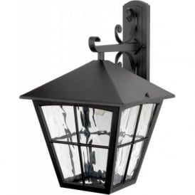 EDINBURGH traditional large black aluminium garden wall lantern