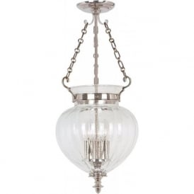 FINSBURY PARK traditional nickel hall lantern, medium