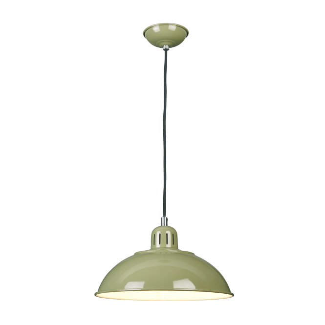 Chester Collection FRANKLIN retro style green ceiling pendant light