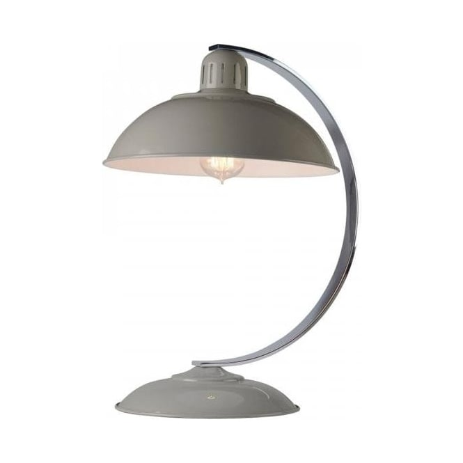 Grey painted enamel desk lamp in 1950s retro styling franklin retro style grey desk lamp or sudy light aloadofball Choice Image