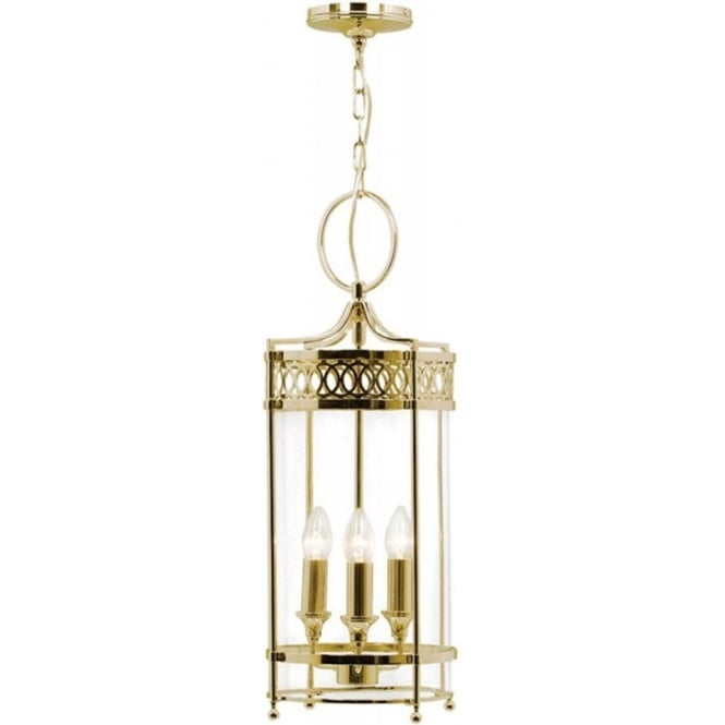 Chester Collection GUILDHALL gold polished brass Georgian hanging lantern