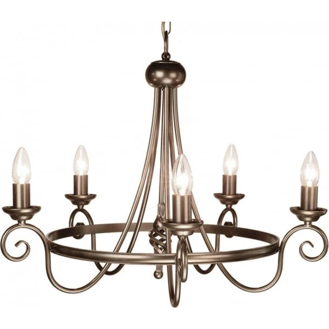 Chester Collection HARLECH Medieval style dark bronze chandelier