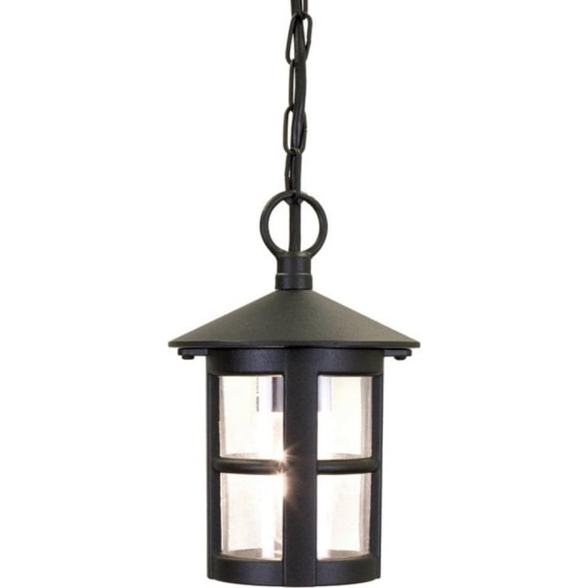 Circular hanging porch lantern with small window bars in black aluminium hereford outdoor hanging porch lantern mozeypictures Image collections