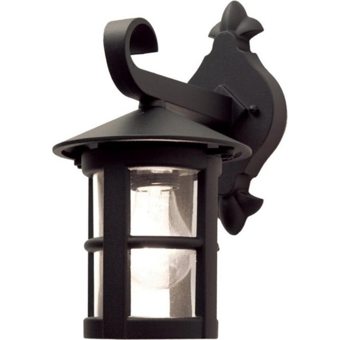 Chester Collection HEREFORD small black traditional garden wall lantern