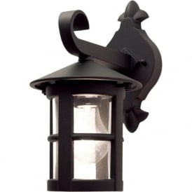 HEREFORD small black traditional garden wall lantern