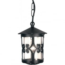 HEREFORD traditional black hanging porch lantern