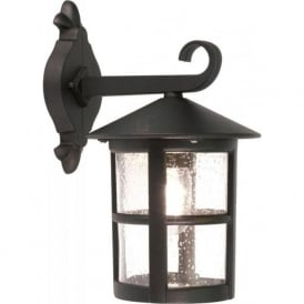HEREFORD traditional black outdoor wall lantern