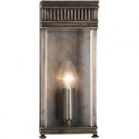 HOLBORN Georgian outdoor wall lantern, dark bronze (small)