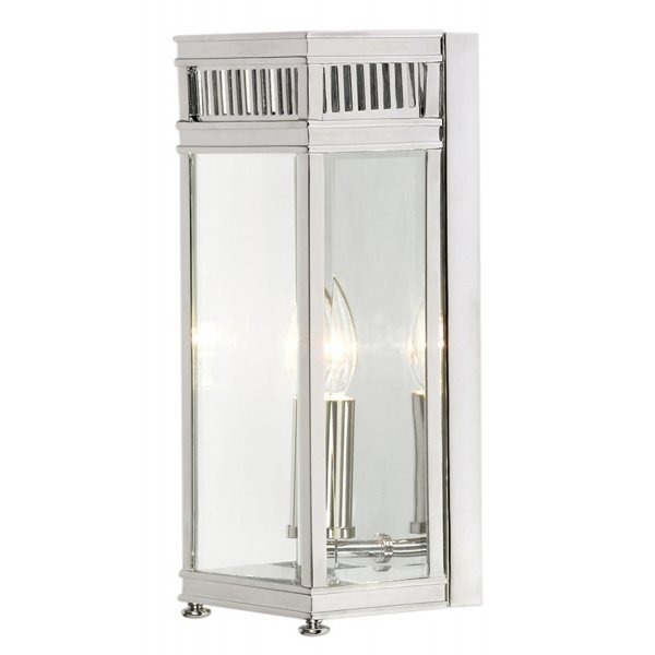 Holbourn georgian style garden wall lantern in polished - Georgian style exterior lighting ...