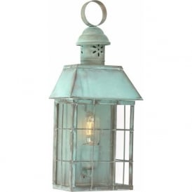 HYDE PARK traditional verdigris exterior wall lantern