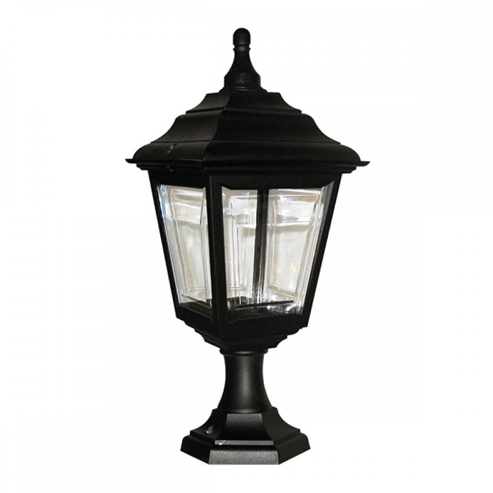 Dual purpose exterior lantern use as gate post light or on porch ceiling