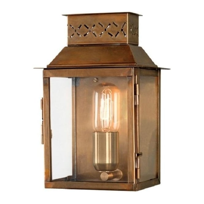Chester Collection LAMBETH PALACE tradtional solid antique brass outdoor wall lantern