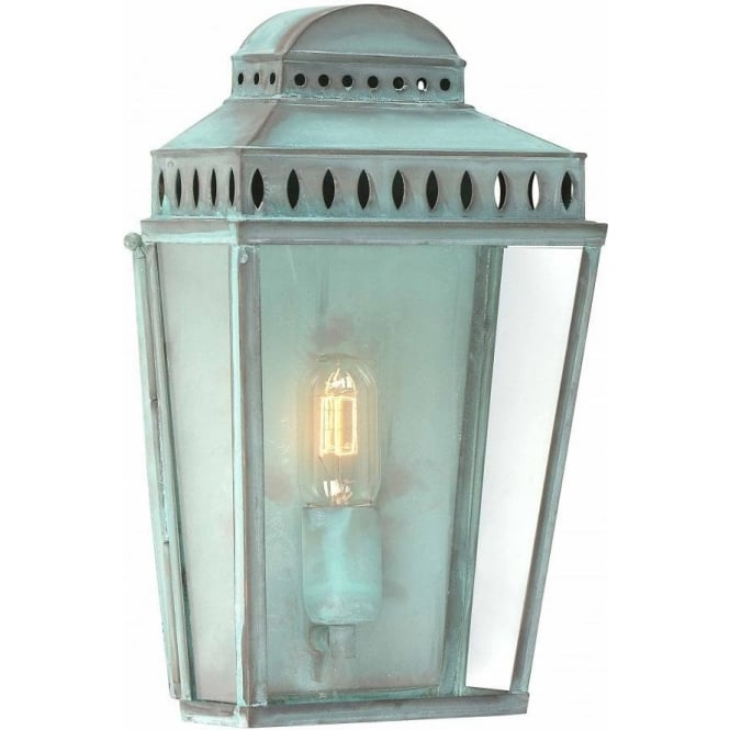 Chester Collection MANSION HOUSE traditional verdigris garden wall lantern
