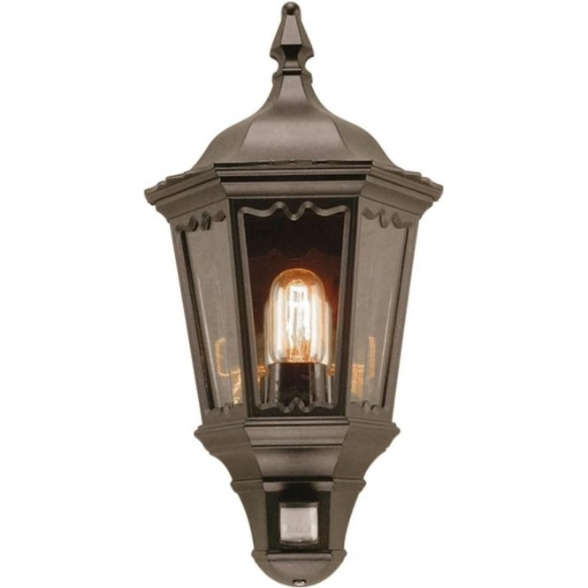 Outside security wall light in traditional style built in pir sensor medstead flush fitting traditional garden security light with pir sensor mozeypictures Image collections