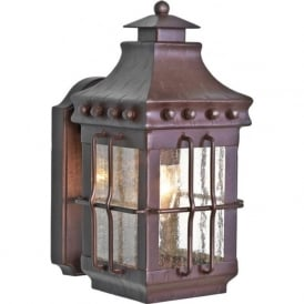 MERROW traditional wrought iron garden wall lantern