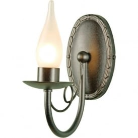 MINSTER traditional black candle style bathroom wall light