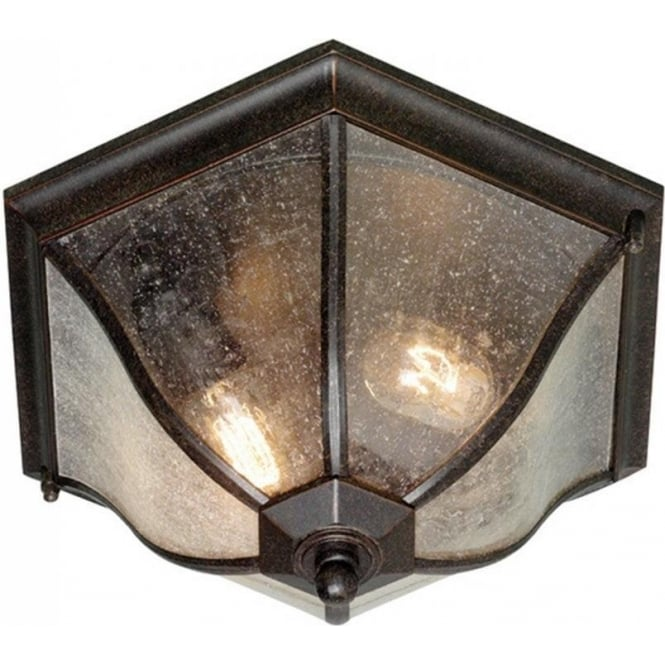 Outdoor Pendant Porch Light Uk: Flush Fitting Porch Ceiling Light Fitting In Weathered Bronze