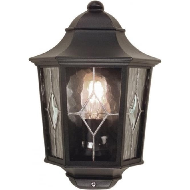 Chester Collection NORFOLK leaded glass flush fitting garden wall lantern