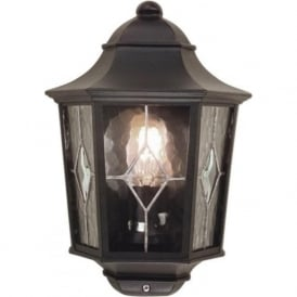 NORFOLK leaded glass flush fitting garden wall lantern