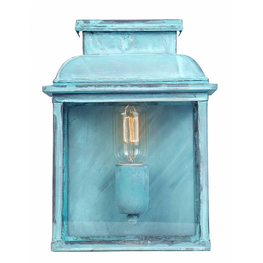 ... Collection OLD BAILEY old fashioned verdigris finish garden wall light