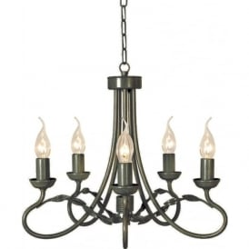 OLIVIA black gold traditional chandelier with 5 lights