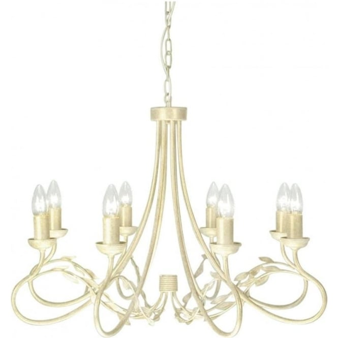 Chester Collection OLIVIA large 8 light traditional chandelier in ivory gold finish