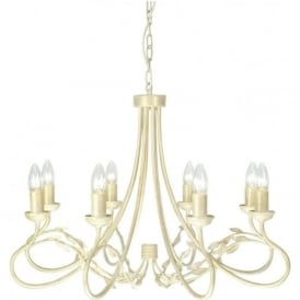 OLIVIA large 8 light traditional chandelier in ivory gold finish