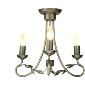 OLIVIA small dual mount black gold chandelier