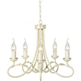 OLIVIA traditional gold ivory chandelier ceiling light