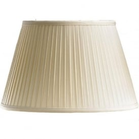 PEMBROKE oyster fine pleated standard lamp shade