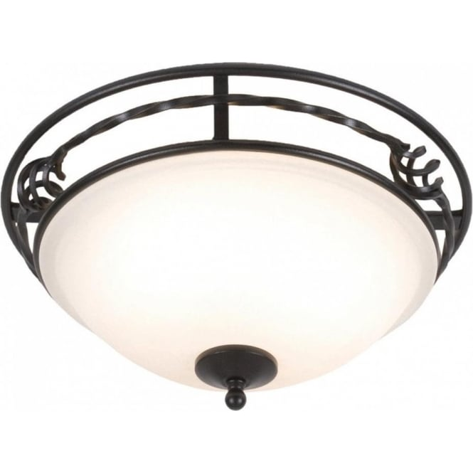 Chester Collection PEMBROKE traditional flush light for low ceilings