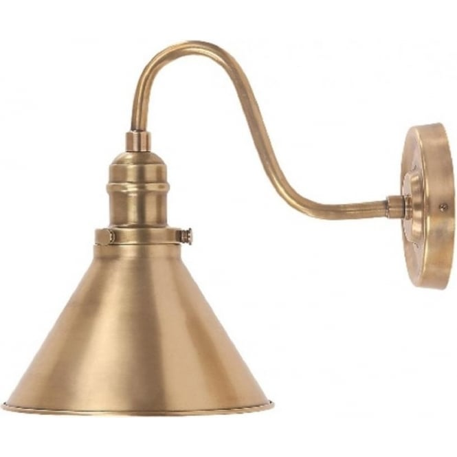 Chester Collection PROVENCE French cafe style wall light - aged brass