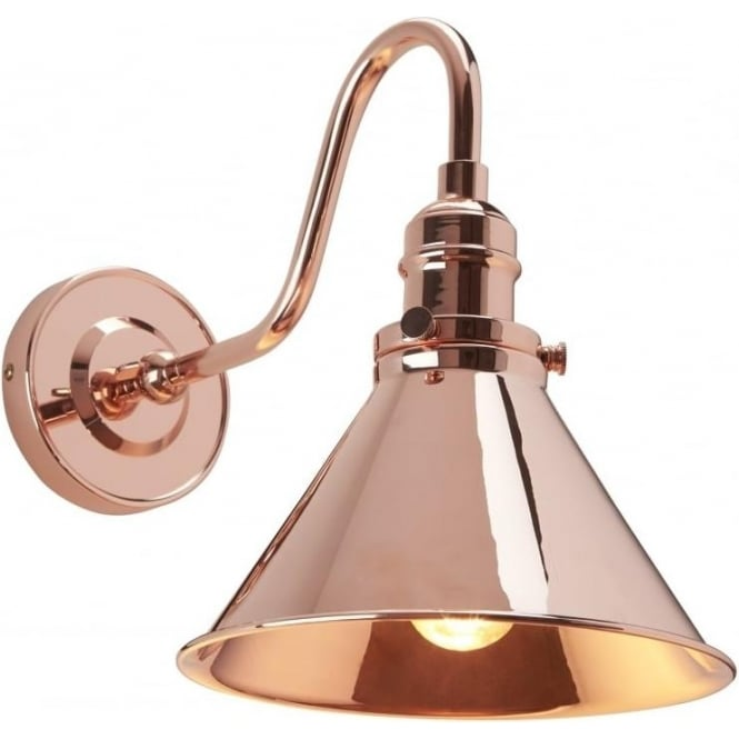 Bistro style copper wall light with swan neck arm and adjustable shade provence french cafe style wall light copper aloadofball Choice Image