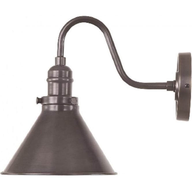 Rustic Swan Neck Wall Light Old Bronze Finish In French Bisto Style